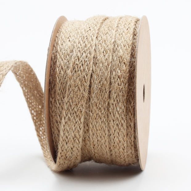 Brown jute braided style ribbon