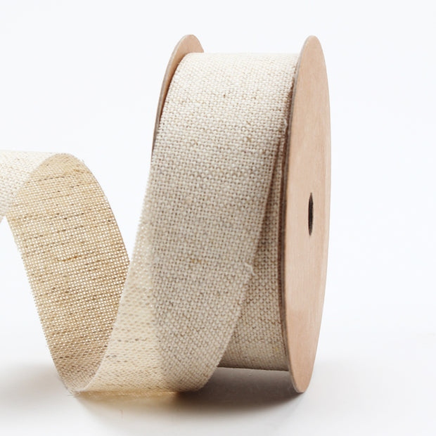 25 millimeter natural flat jute ribbon