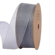 25 millimeter grey organza ribbon
