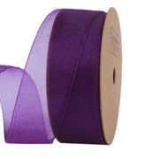 25 millimeter purple organza ribbon
