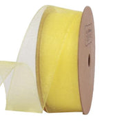 25 millimeter yellow organza ribbon