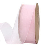 25 millimeter light pink organza ribbon