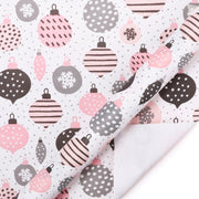 White and pink ornament print wrapping paper roll