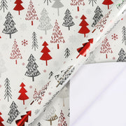 "Geometric Metallic Christmas Tree  Wrapping Paper White/Multi - 30"" x 120"""