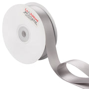 1 inch silver double face satin ribbon