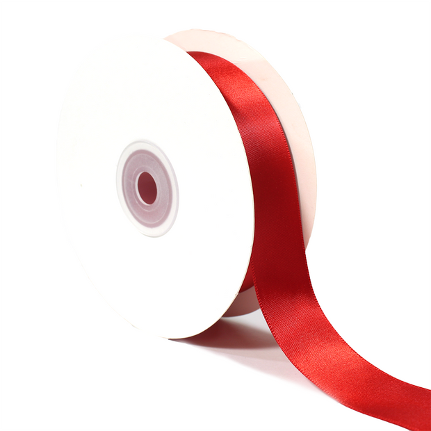 1 inch red double face satin ribbon