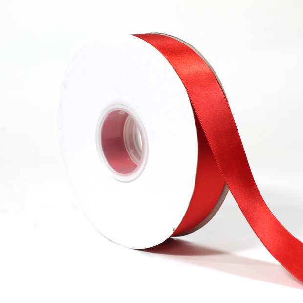 1 inch red double face satin ribbon 25 yards