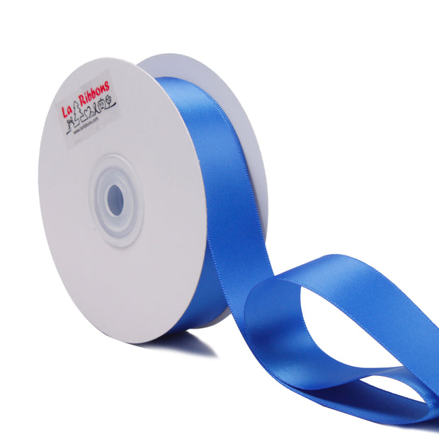 1 inch royal blue double face satin ribbon
