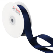 1 inch navy blue double face satin ribbon