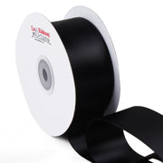 1 1/2 inch black double face satin ribbon