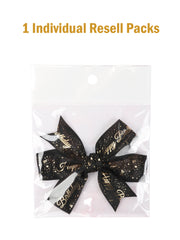 12pcs Black Satin Ribbons Gift Wrapping Supplies Gift Bow Bundle