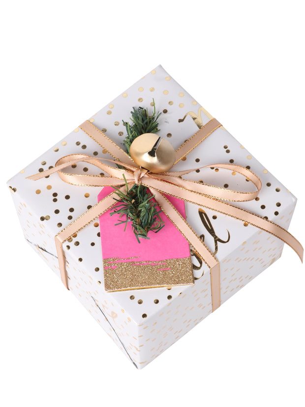 "2"" x 3"" Metallic Gift Tag Bundle Hot Pink/Gold - 6 Pcs/Bag - 6 Bags/Bundle (36 Pieces Total)"