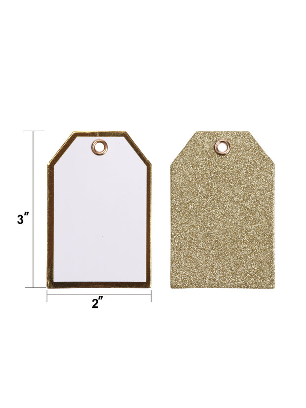 "2"" x 3"" Metallic Gift Tag Bundle (24 Pieces Total)"