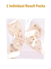 12Pcs Gift Bows Satin Ribbon Gifts Decoration for Gifts Wrapping - Geometric Pattern