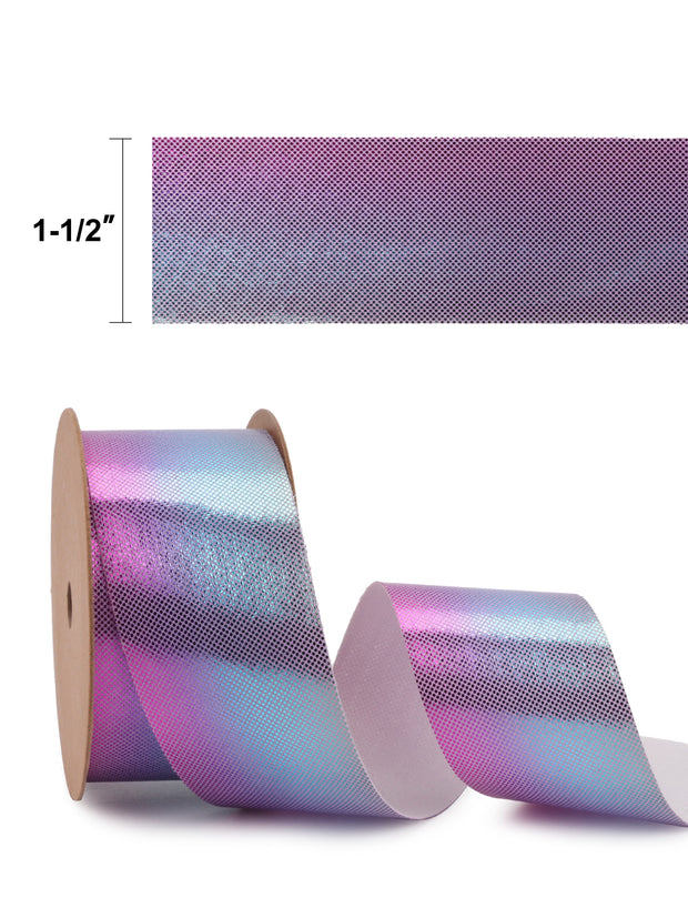 "1 1/2"" Mermaid Ribbons Gradient for Gifts Wrapping Decoration Bundle - 3Yards/Color - Total 6Yards"