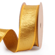 25 millimeter gold silk ribbon