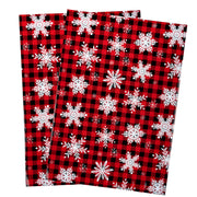 RUSPEPA Poly Mailers Shipping Bags Snowflake Plaid Envelope Mailers 2.3 Mil Heavy Duty Self Seal Mailing Envelopes - 10 x 13 inches, 100 Pack