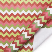 Red and green chevron wrapping paper roll