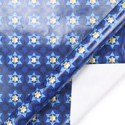 Blue star of david printed wrapping paper roll