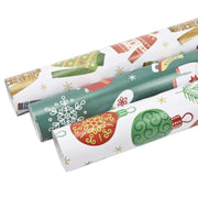White and green ugly Christmas sweater printed wrapping paper rolls