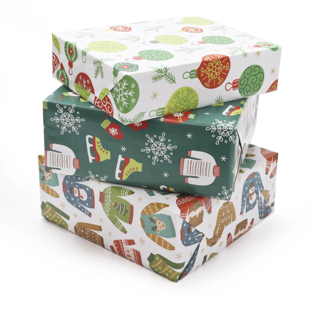LaRibbons Ugly Xmas Sweater Wrapping Paper Collection