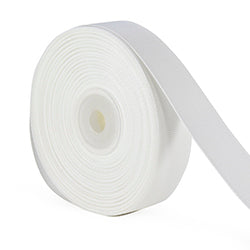 7/8 inch white grosgrain ribbon