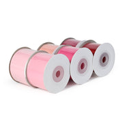 "LaRibbons 1 1/2"" Solid Pinks Grosgrain Ribbon Bundle 6 Pack - 5 Yard Spools"