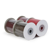 "LaRibbons 2 1/4"" Textured Grosgrain Ribbon Reds Spool Bundle 4 - 5 Yard Spools (20 Yards Total)"