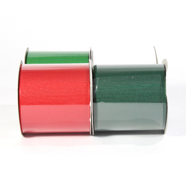 "LaRibbons 2 1/4"" Textured Grosgrain Ribbon Holiday Spool Bundle 4 - 5 Yard Spools"
