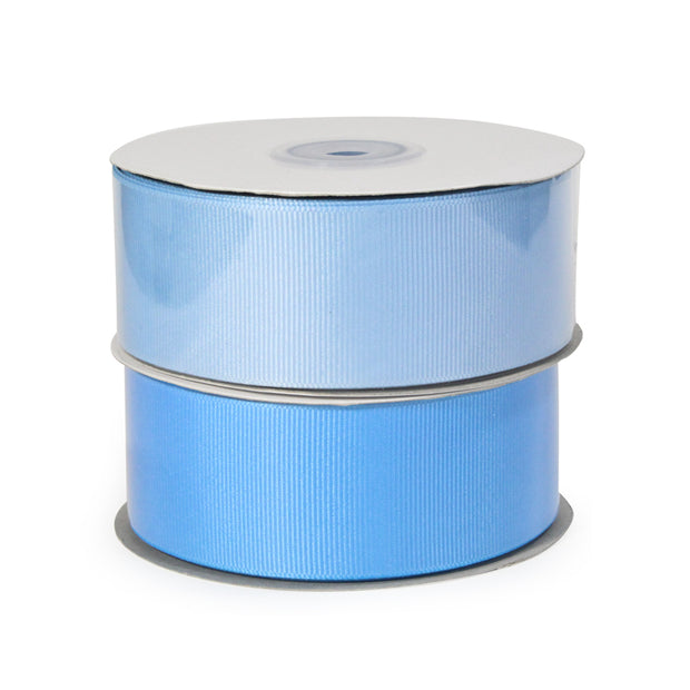 Two blue and light blue grosgrain ribbon bundle