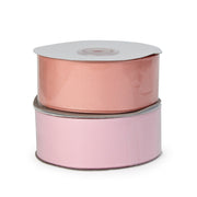 Two spool peach and light pink color grosgrain ribbon bundle