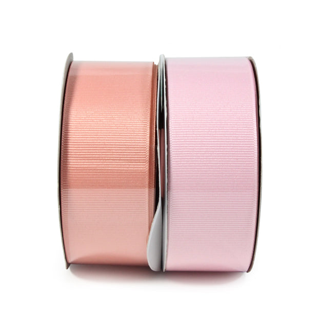 "LaRibbons 1 1/2"" Solid Grosgrain Ribbon Coral Ice/Light Pink Spool Bundle 2 - 20 Yard Bundle"