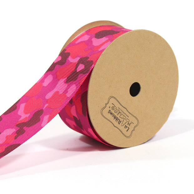 1 1/2 inch pink camouflage ribbon