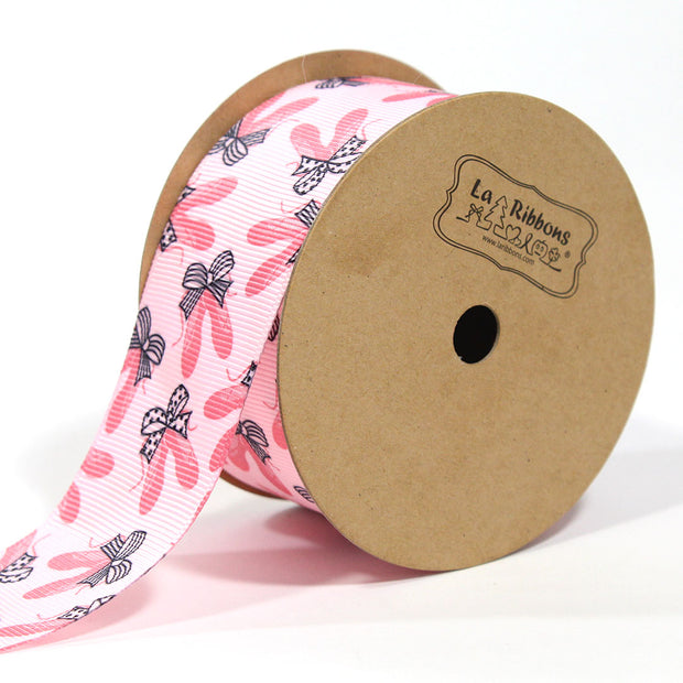 1 1/2 inch pink ballet slipper pattern ribbon