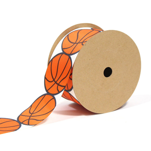 1 1/2 inch basketball theme ribbon