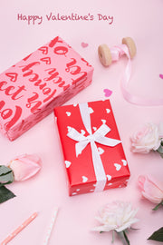 Valentine's Day Wrapping Paper Bundle Pink/Red - 4 Rolls/30 inch X 120 inch Per Roll