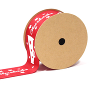 "1 1/2"" inch red cheerleader theme grosgrain ribbon"