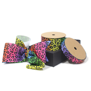 Rainbow Leopard Grosgrain Ribbon