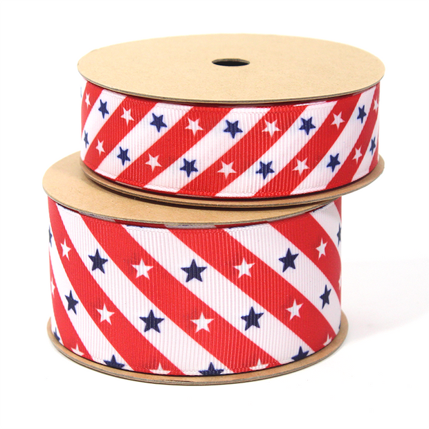 Stars and Stripes Grosgrain Ribbon Red/White/Blue