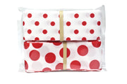 Red and white polka dot grosgrain ribbon bundle