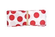 1 1/2 inch white and red polka dots grosgrain ribbon