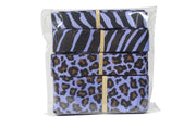 Blue animal print grosgrain ribbon bundle