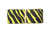 1 1/2 Inch yellow and black zebra print grosgrain ribbon