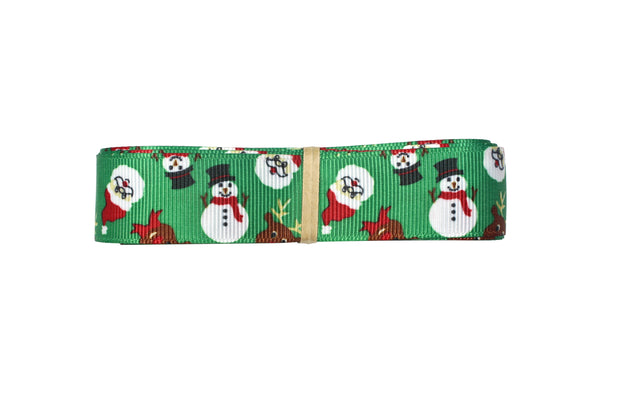 "LaRibbons 3/8""- 1 1/2"" -""Green/Red"" Christmas Grosgrain Ribbon Bundle"