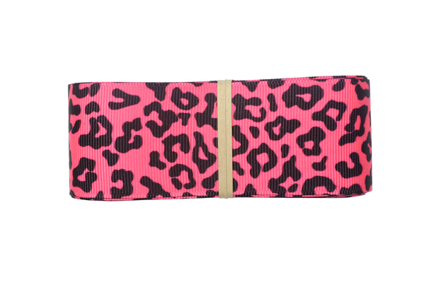"LaRibbons 3/8"" -1 1/2"" Fruit Punch Zebra/Leopard Grosgrain Ribbon Bundle"