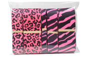 Hot Pink Zebra Print Grosgrain Ribbon Bundle