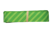 7/8 inch green stripe grosgrain ribbon