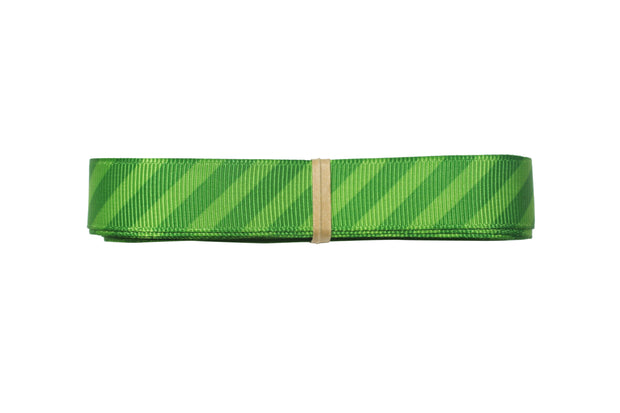 5/8 inch green stripe grosgrain ribbon