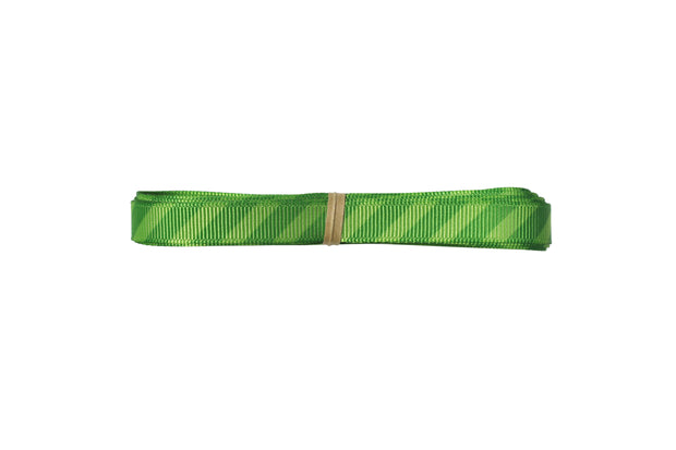 3/8 inch green stripe grosgrain ribbon