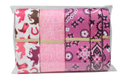 Pink cowboy theme novelty ribbon bundle